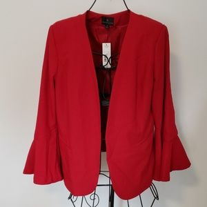 Worthington Rumba Red Blazer with Bell Sleeves